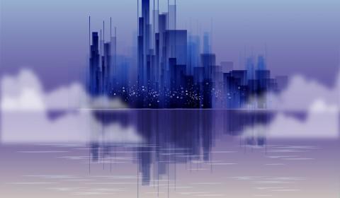 ville de loin
